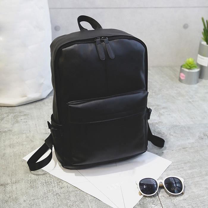 Sac à dos en cuir pour ordinateur portable Satchel Travel School Sac à dos pour homme talkwemot5083