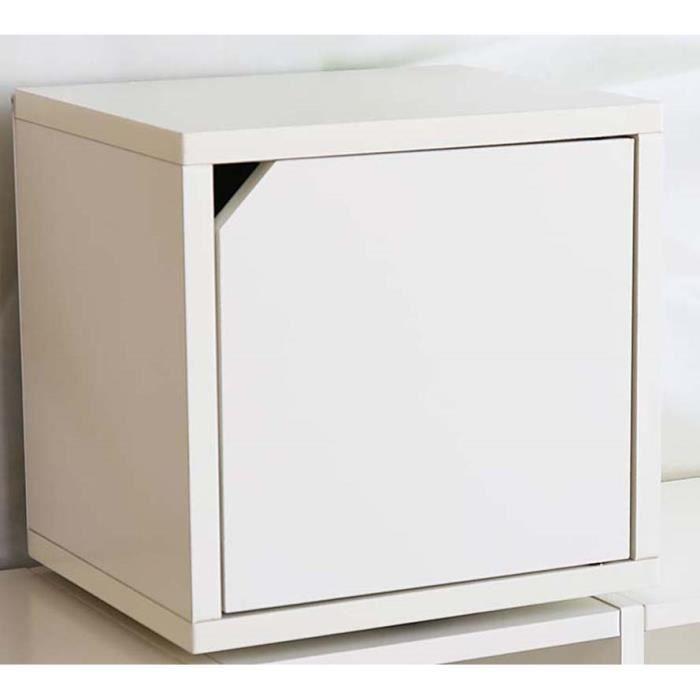 Etagère Cube Tournante Avec Porte Standregal M Achat Vente - Etagere avec porte