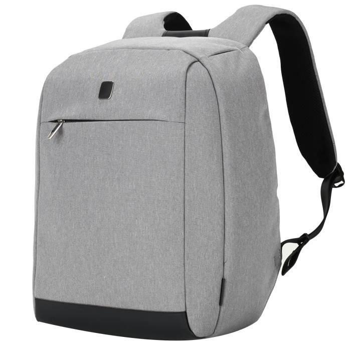 Sac à dos antivol pour 14 pouces ordinateur portable résistant à leau pour femmes et hommes style daffaire 22L gris clair