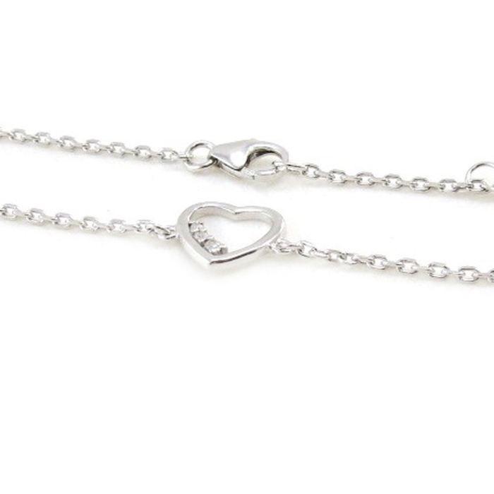 Bracelet Argent Love blanc