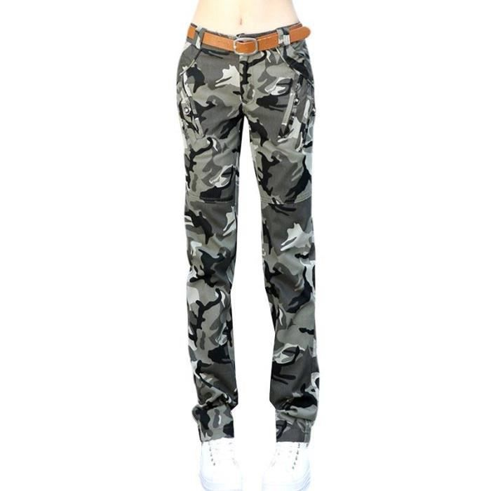 Cargo Pantalon Militaire Femme Extérieur Multi-poche Pantalon Femme ... 5e21707f5dd9