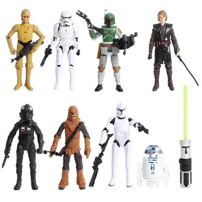 Figurine personnage miniature star wars animation jouet poup e mod le d coration 8 pi ces - Personnage star wars 6 ...