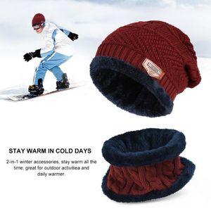 c006baacf7 ... BONNET - CAGOULE Vbiger Bonnet d'hiver Tricot Chaud Durable Pour ...