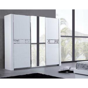 ARMOIRE DE CHAMBRE Armoire design 3 portes coulissantes laqué blanc e