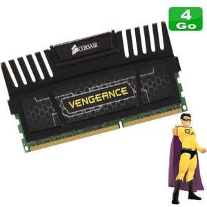 MÉMOIRE RAM 4Go RAM Corsair Vengeance CMZ8GX3M2A1600C9 (1x4Go)