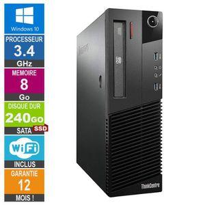UNITÉ CENTRALE  PC Lenovo ThinkCentre M83 Core i5-4670S 3.10GHz 8G