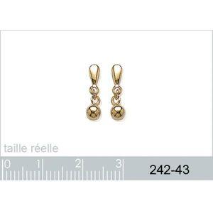Boucle d'oreille Boucles d'oreilles perles pendantes plaqué or