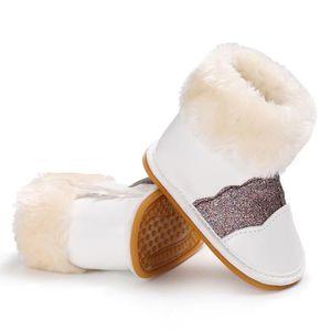 BOTTE Blanc-Nouveau Hiver Garde au chaud Chaussures de b