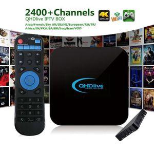 BOX MULTIMEDIA QHD live-IPTV 1G + 8G 2400+ Chaînes en direct Déco