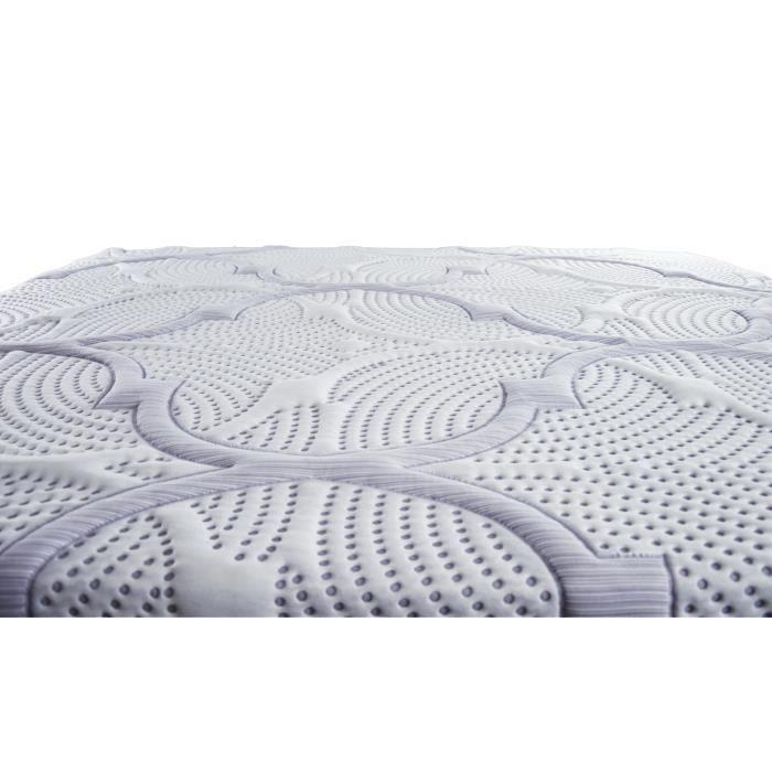 OLYMPE LITERIE Matelas + sommier 90x190 - Mémoire de forme lavend'tech® 60kg/m3 - Equilibré + Pack linge de lit