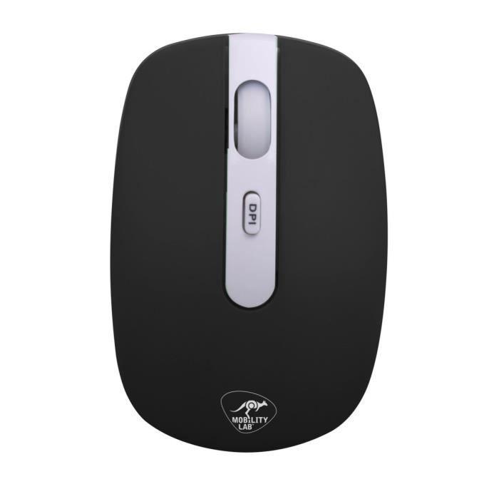 La souris sans fil Rubbamouse est recouverte d'une texture douce au toucher. En plus d'être ultra agréable à utiliser, elle est dotée d'un système de clic silencieux.SOURIS