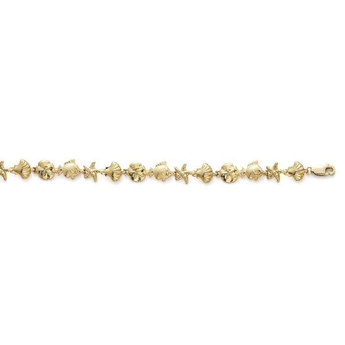 Shll Sanddollar 14 carats Bracelet Fish - 18 cm