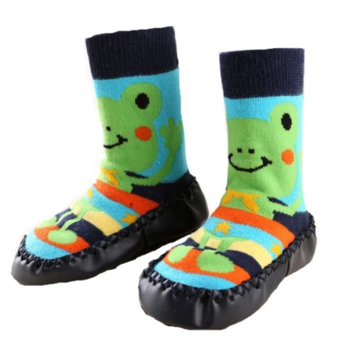 0f9faa72aabe8 Chaussons chaussettes bébé avec semelle antidérapante (12-24 Mois ...