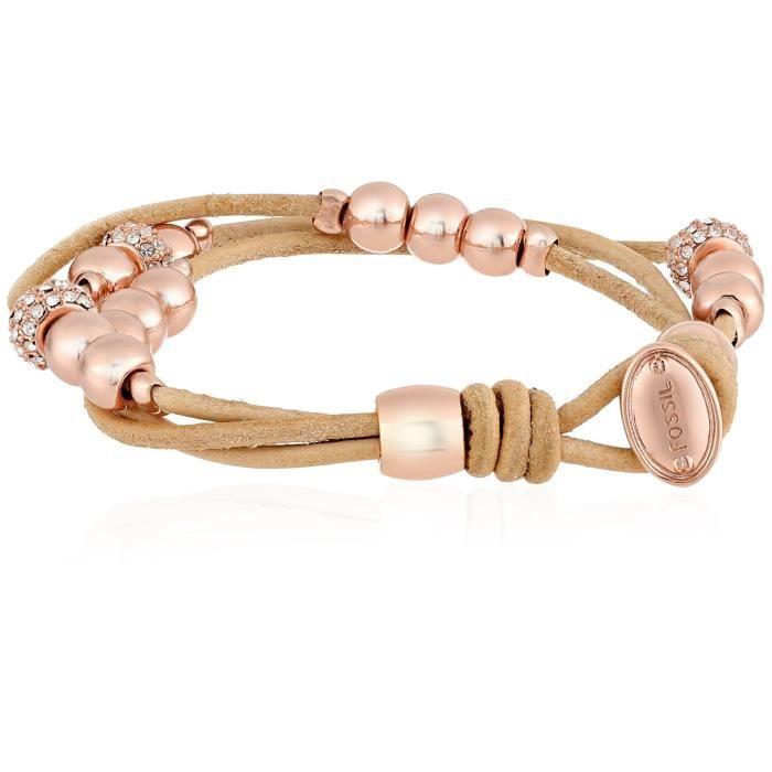 Fossil Rondel cuir pour femmes Montres Wrap Bracelet YMDC1