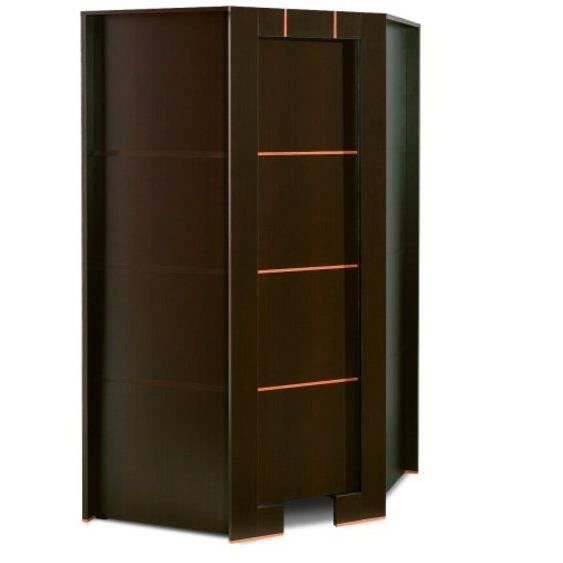 armoire dressing d angle 1 porte moderne wenge sans surmeuble achat vente armoire de chambre. Black Bedroom Furniture Sets. Home Design Ideas