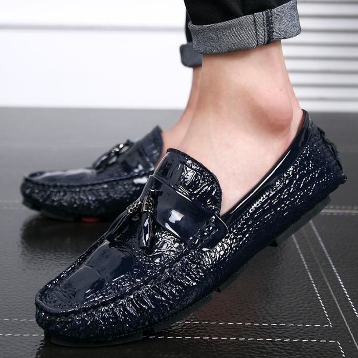 British Style Cool Hommes Slip-on Chaussures plates rIYqNY