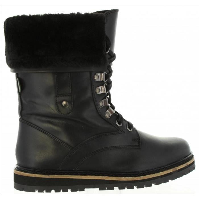 4997faa0d5f5e7 Bottines femme cuir noir kickers - Achat / Vente pas cher
