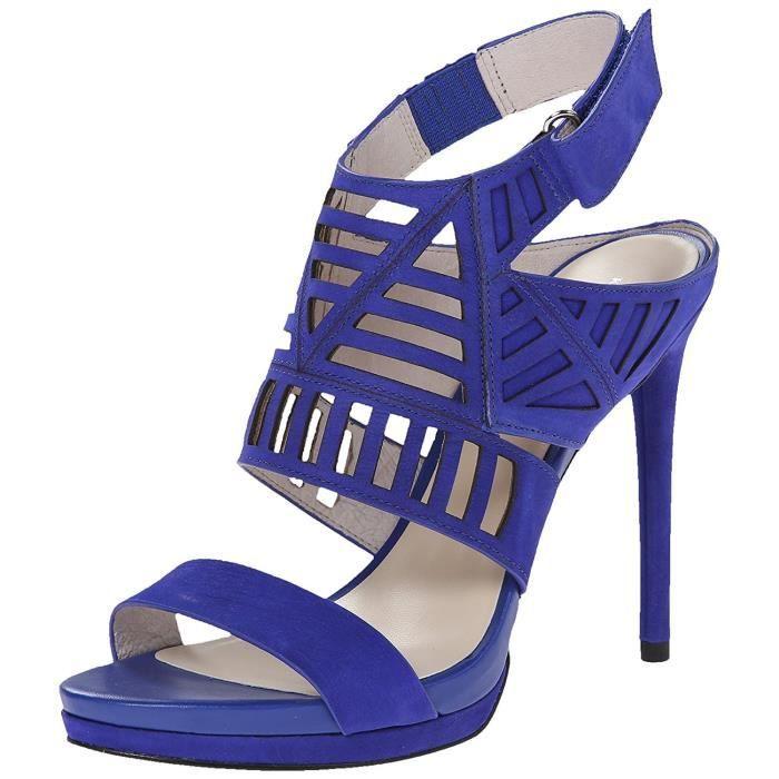 Kenneth Cole New York Kenneth Cole Niko Cutout sandale en cuir pour femme CKHDS Taille-40 1-2