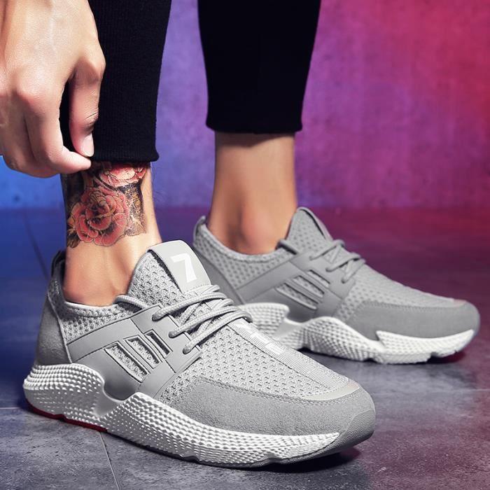 Baskets Homme Respirable Running chaussure- chaussures de sport