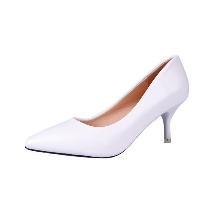 Femmes blanc De Chaussures Cuir noir 33 41 Respirant Lger Rouge En Couleur Plus Escarpins Hhx207 dEAnxq66