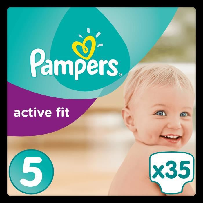Pampers Active Fit Taille 5 11 à 23kg 35 Couches Format Pack