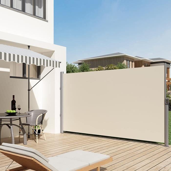 PARAVENT Paravent extérieur rétractable 180 x 350 cm (H x L