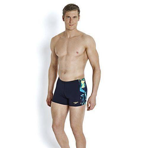 51734366fc Speedo 8-09528B08434 - MAILLOT DE BAIN - Powerform Short de bain Homme Bleu  Marine FR : 34 Taille Fabricant : 34