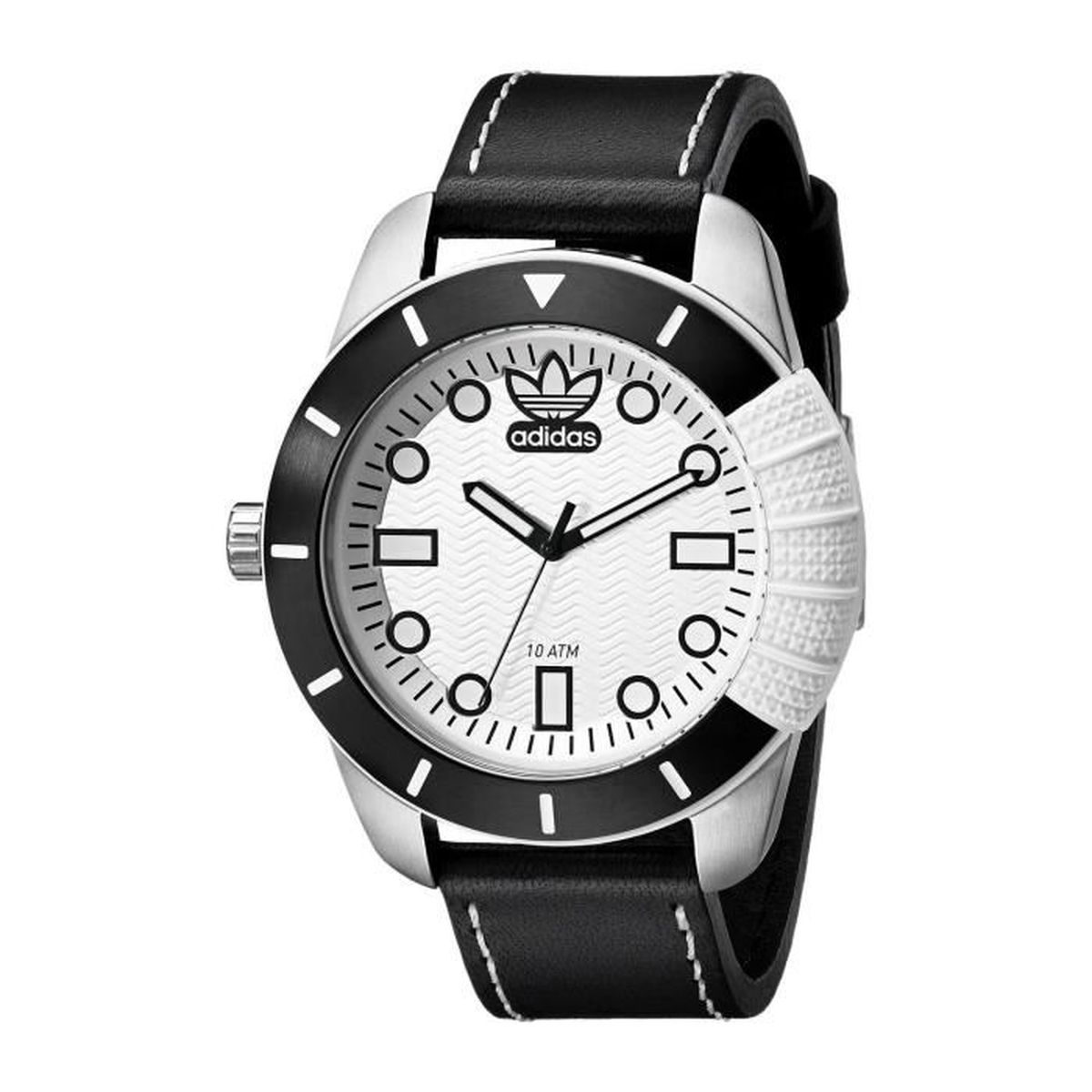 montre adidas blanche homme