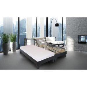 sommier electrique 90x200 achat vente sommier electrique 90x200 pas cher soldes d s le 10. Black Bedroom Furniture Sets. Home Design Ideas