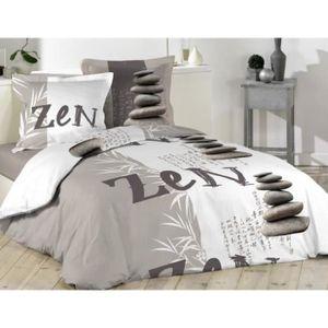 parure de couette zen achat vente parure de couette zen pas cher cdiscount. Black Bedroom Furniture Sets. Home Design Ideas