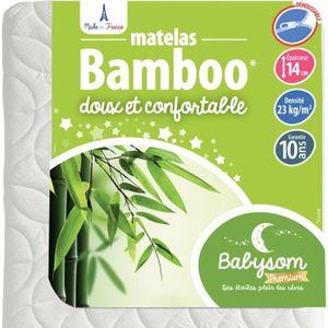 MATELAS BÉBÉ Babysom - Matelas bébé Bambou 70x140x14cm