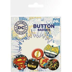 BADGES - PIN'S Set de badges DC Comics Retro
