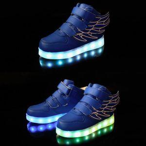 2016 Mode enfants LED light Chaussures enfants Baskets Mode USB charge lumineux éclairé Boy Sports Paphiopedilum K4PxlEvsCP