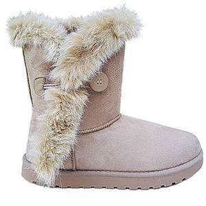 BOTTINE Fashionfolie888 - Boots Hiver Femme fourrure vérit