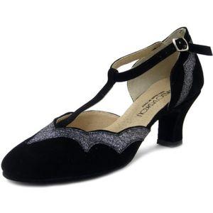 e4d3b54304e7a8 ESCARPIN Chaussures de danse, modèle charleston, danse de S