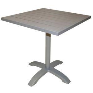 TABOURET Table de bar coloris blanc en aluminium revêtu epo