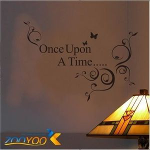 STICKERS DE VITRINE 1PCS Once upon a time Stickers