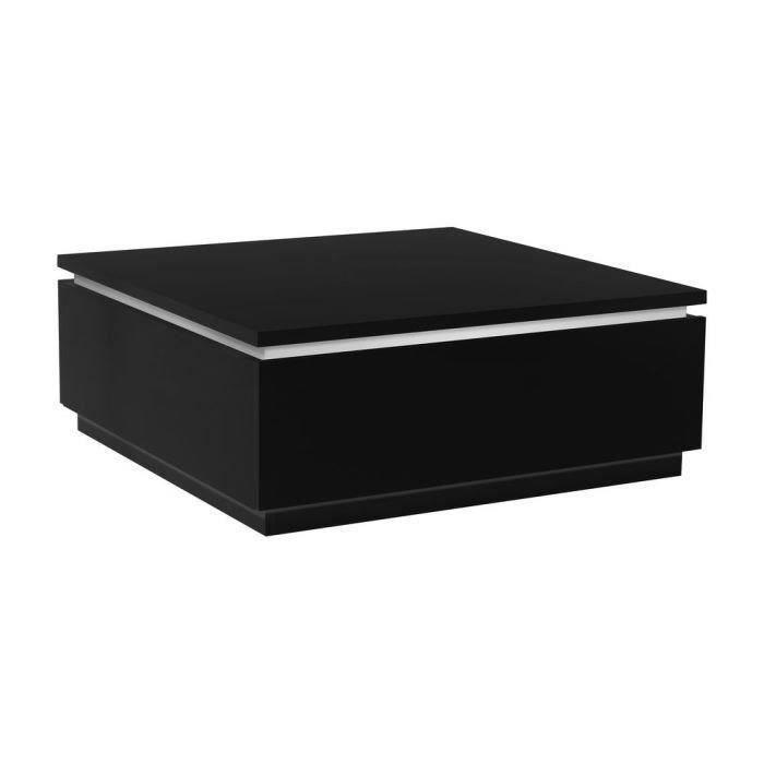 buzz table basse avec éclairage laquée noir - achat / vente table
