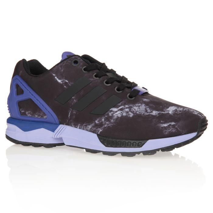 meilleure sélection e3b74 b7754 ADIDAS Baskets ZX Flux Chaussures Femme Noir et bleu - Achat ...