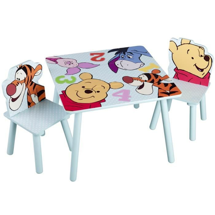 Winnie l 39 ourson table enfant chaises achat vente - Table et chaise winnie l ourson ...