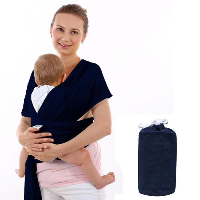 Echarpe de portage porte bébé moby wrap(Bleu) - Achat   Vente ... a3bc3dc8073