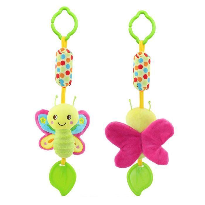Carillons éoliens carillons jouets en peluche suspendus nouveau-né berceau voiture tour papillon animaux bébé lit hochets cloche