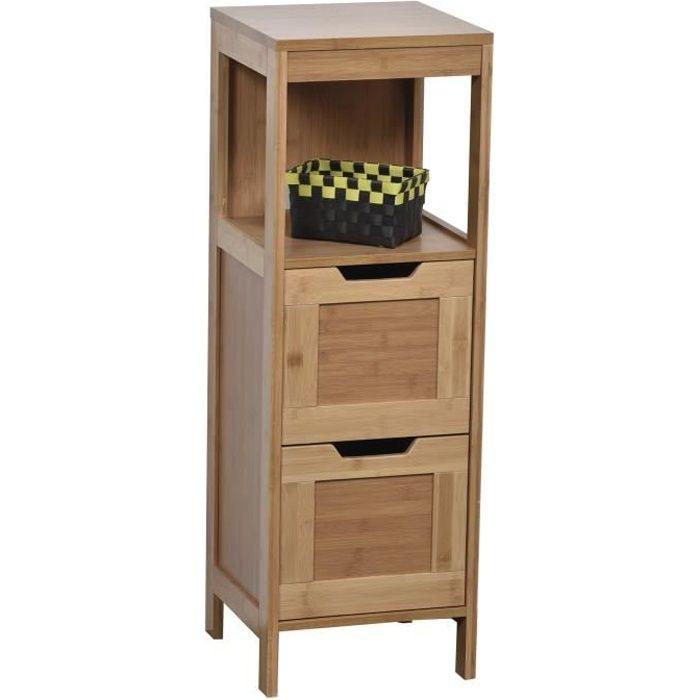 colonne meuble bas de salle de bain en bambou achat. Black Bedroom Furniture Sets. Home Design Ideas