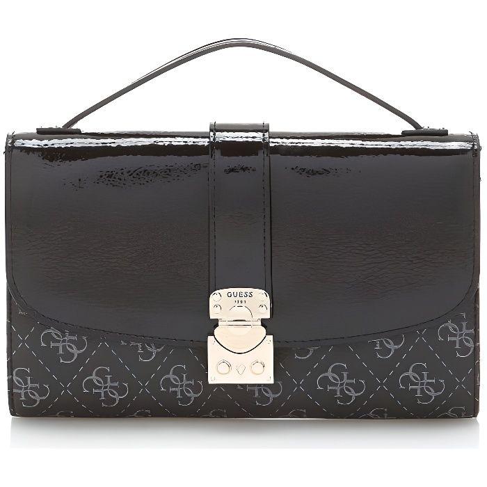 Guess Portefeuille Femme Joslyn Logo Noir - Achat   Vente ... e7a8fbcf471
