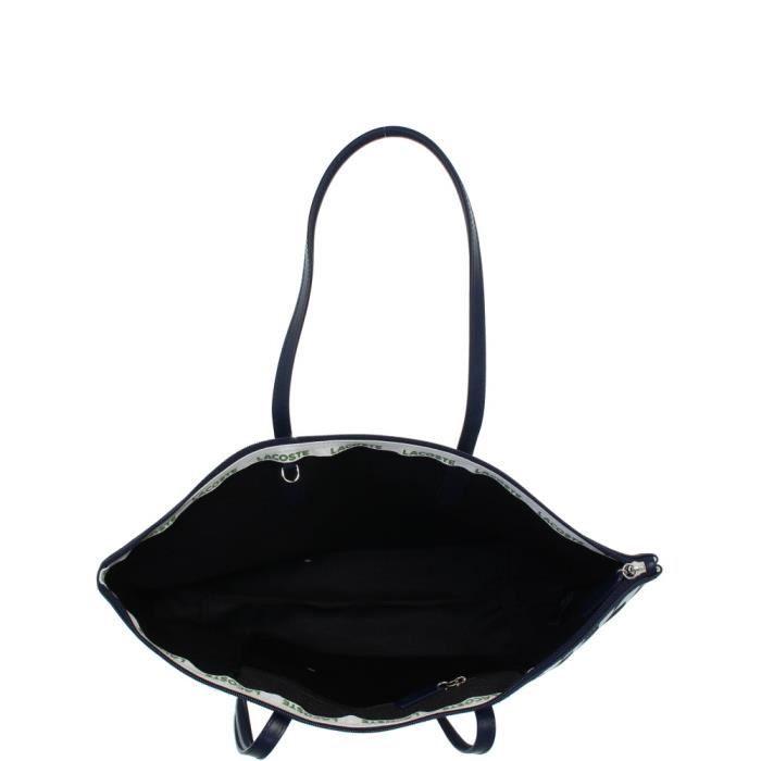 7d765a3dca Sac Lacoste shopping porté épaule ref_cem40599-959-47*30*13 Bleu Et Blanc