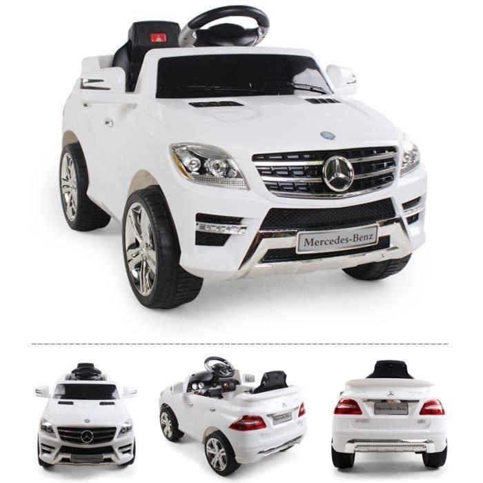 voiture lectrique pour enfant mercedes ml 350 blanc achat vente voiture enfant cdiscount. Black Bedroom Furniture Sets. Home Design Ideas