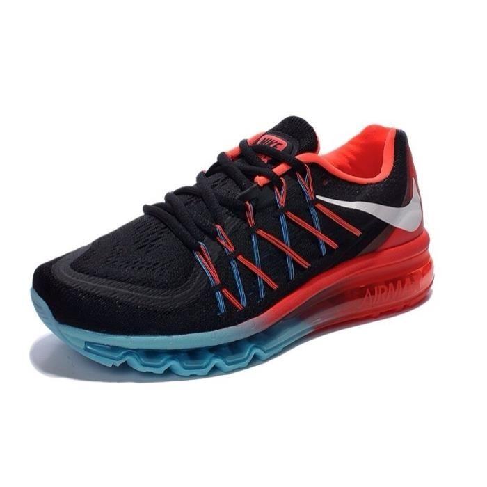 grossiste 7bfb0 3b3d2 Nike Air Max 2015 noir et rouge et bleu NOIR rouge et bleu ...