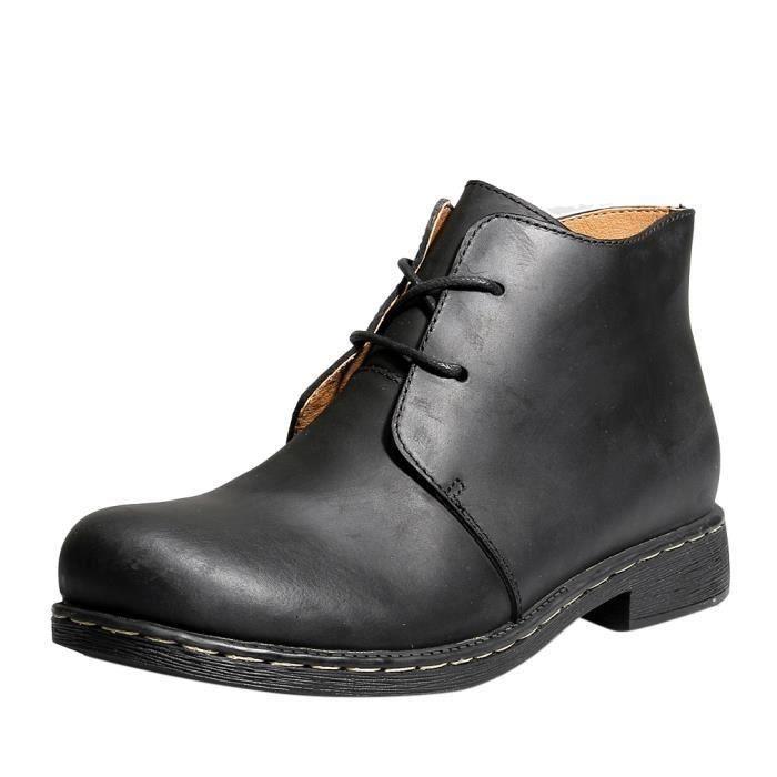 Boots Bottine Chaussure en Cuir Homme Fashion N...
