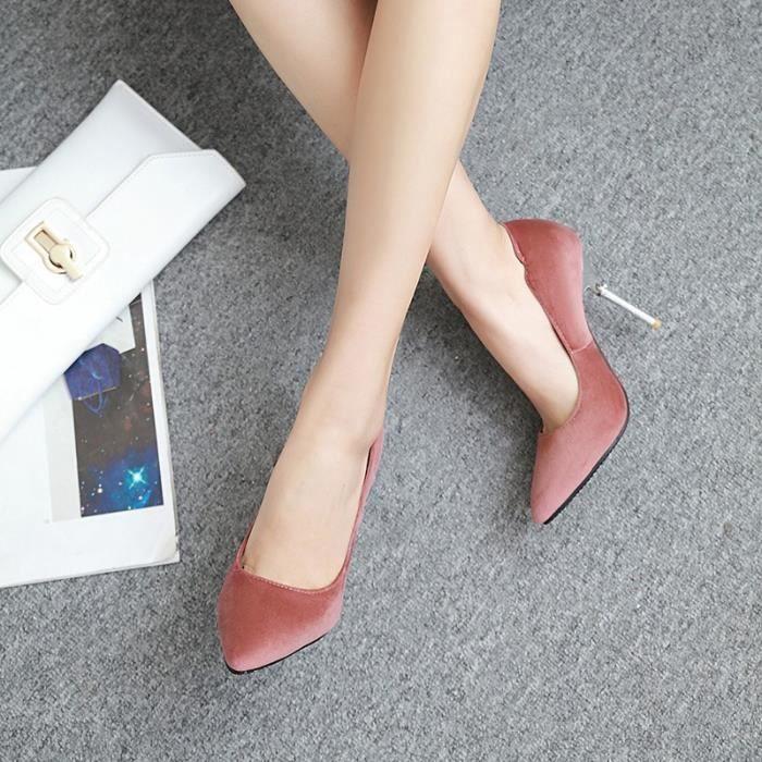 Nouvelle mode escarpin talonhaut mince femmes pointu party toe chaussures respirante sexy