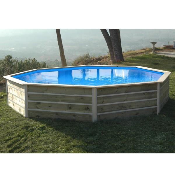 Piscine bois aspect bois achat vente piscine bois for Piscine aspect bois